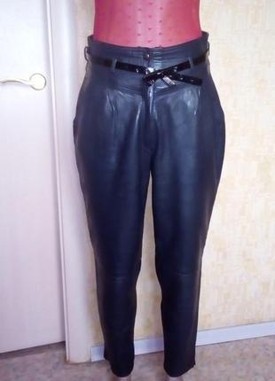 Италия!роскошные меланжевые 100% кожаные брюки// брюки/штаны/джинсы