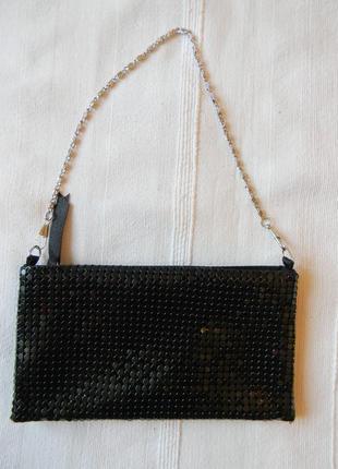 Черная театральная--вечерняя сумочка--клатч новая