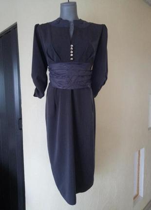 Винтажное стрейчевое платье миди,не секонд
