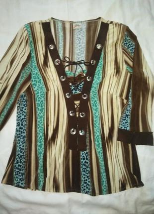 Прекрасная блуза в полоску xxl