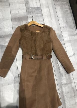 Супер пальто, кашемир, 100 % , кролик