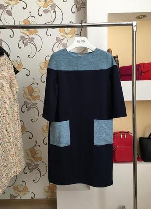 Повседневное , стильное платье с карманами , есть размеры