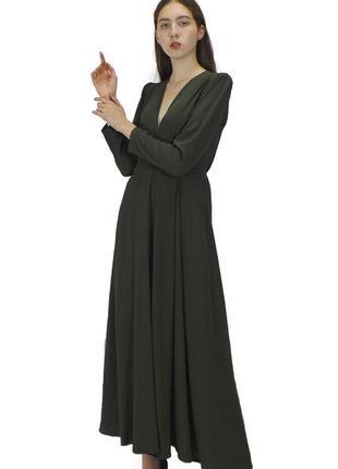 Платье little mistress зеленое с запахом