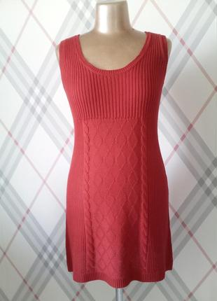 Платье-сарафан трикотажный зимний