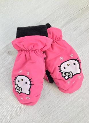 Варежки краги перчатки рукавички hello kitty от h&m