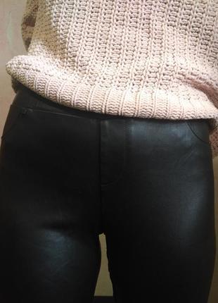 Лосины штаны под кожу clockhouse скини леггинсы джеггинсы на резинке