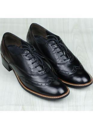 Кожаные туфли оксфорды броги paul green 1436-005 австрия 42р. 27-27,5 см.