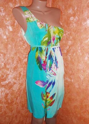 Шелковое платье warehouse р. 38 (м)
