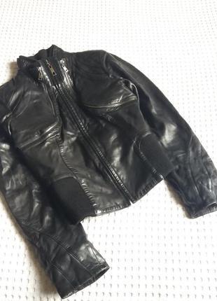 Кожаная курточка куртка кожанка болеро жилетка трансформер