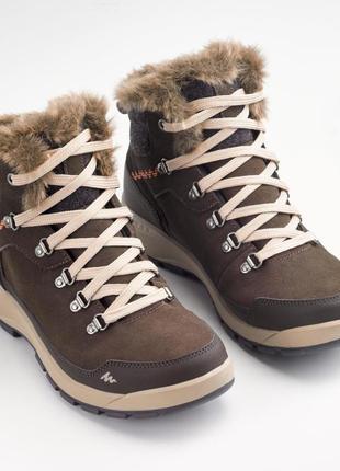 Теплые женские ботинки для зимнего походного quechua
