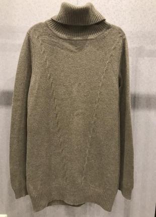 Кашемировое платье-свитер туника гольф бренда fabiani, 100% кашемир. размер 38, m-l