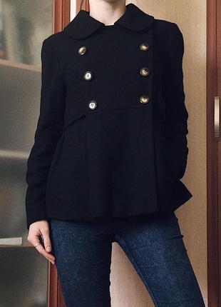Очень милое, теплое драповое осеннее/ весеннее пальто от topshop