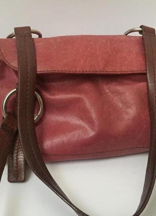Люкс бренд coccinelli. итальянская сумка из натуральной кожи