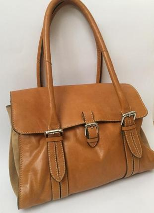 Clarks! большая брендовая кожаная сумка из натуральной кожи. интретоп.