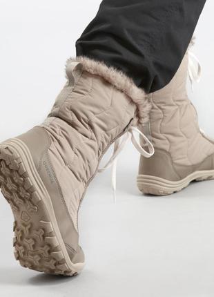 Женские теплые ботинки для зимних походов со шнурками quechua