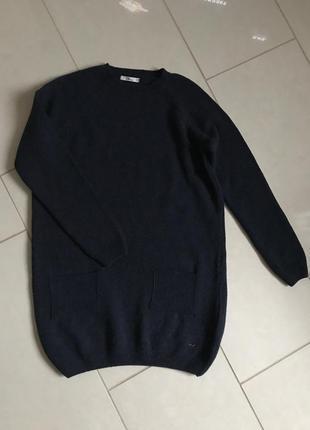 Пуловер длинный туника шерстяная дорогой бренд ltb размер м