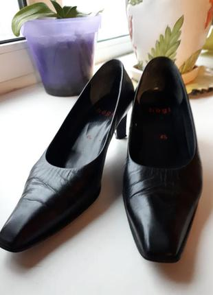 Туфли кожа hogl, клаcсика, на удобном каблуке 5 см.  элегантные и изысканные