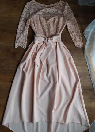 Платье.  цвет пудра.