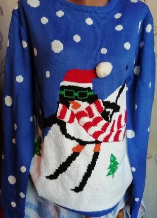Новогодний свитерок 12 размера