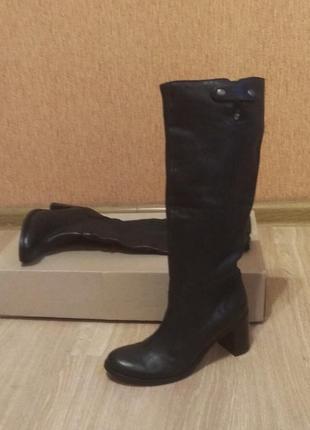 Кожаные сапоги /ботинки италия