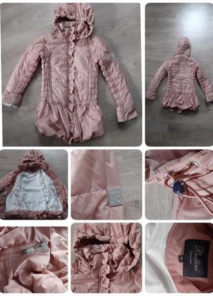 Крутая фирменная почти новая куртка-плащ bellini италия. 9-10лет