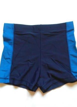 Синие плавки на мальчика шортами 8-9 лет для бассейна и пляжа
