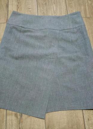 Серая юбка на запах