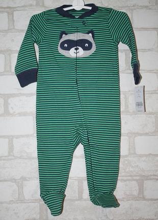 Хлопковая пижама carter's с рисунком и закрытой ножкой