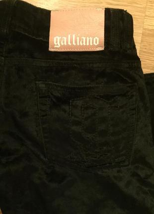 Бархатные брюки от люксового бреда galliano