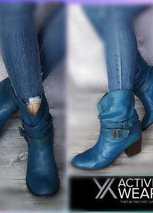 39р кожа! англия activewear кожаные ботинки,ковбойки