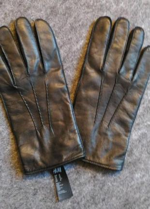 Новые кожаные перчатки h&m