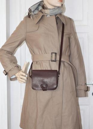 Красивое брендовое шерстяное пальто