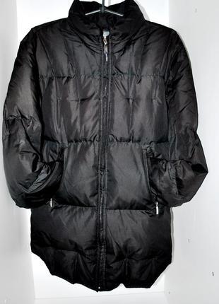 Пуховик черный удлиненный easy comfort  голландия 90% пух бренд