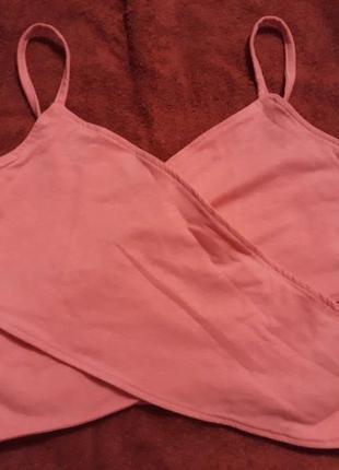 Топ неоново-розовый