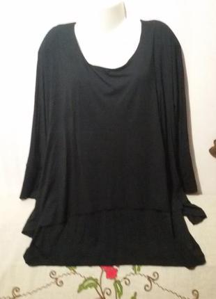 Вискозная блуза - джемпер (пог- 73 см)