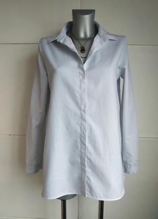 Стильная длинная рубашка cos оригинальнального кроя с асимметричным низом