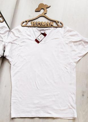 Белая хлопковая футболка castro.