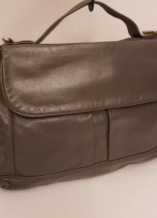 Англия! красивая стильная кожаная сумка#портфель благородного серого цвета