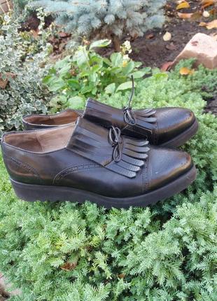 Шикарные туфли оксфорды из натуральной кожи от calpierre