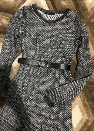 Свитер reserved длинный вязаная туника свитер блестящий с люрексом