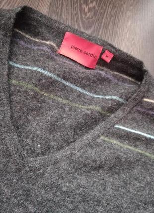 Фирменный шерстяной свитер унисекс