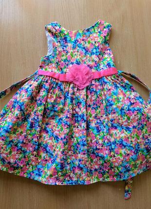 Нарядное платье девочке праздничное разноцветное