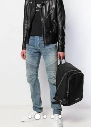 Байкер стиль джинсы balmain