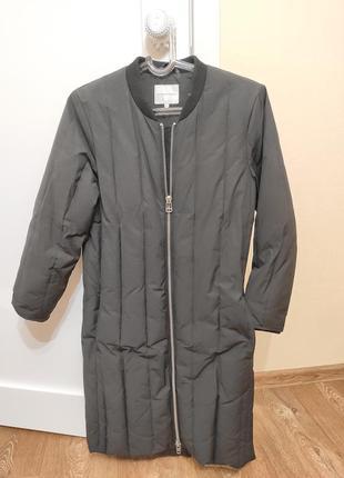 Пуховое пальто бомбер