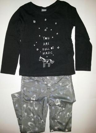 Стильный комплект джинсы kookai +реглан next (3-5лет)