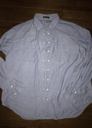 Massimo dutti, рубашка, хлопок! р.-46