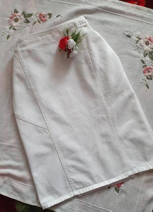 Біла спідниуя міді белая юбка миди .