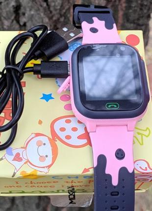 Смарт годинник для дівчинки, рожевий