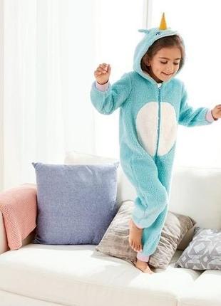Новый пушистый слип, пижама, костюмчик р.110-116 lupilu