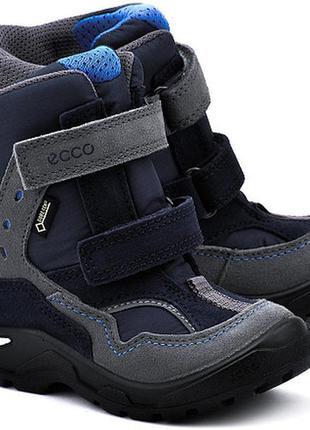 Новые детские зимние ботинки ecco snowride размер 22 зимові сапоги чоботи